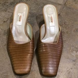Talbots Leather Slides - Mules Size 8